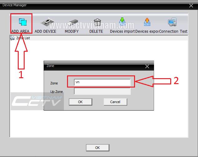 Add đầu ghi vào phần mềm CMS Client XMeye